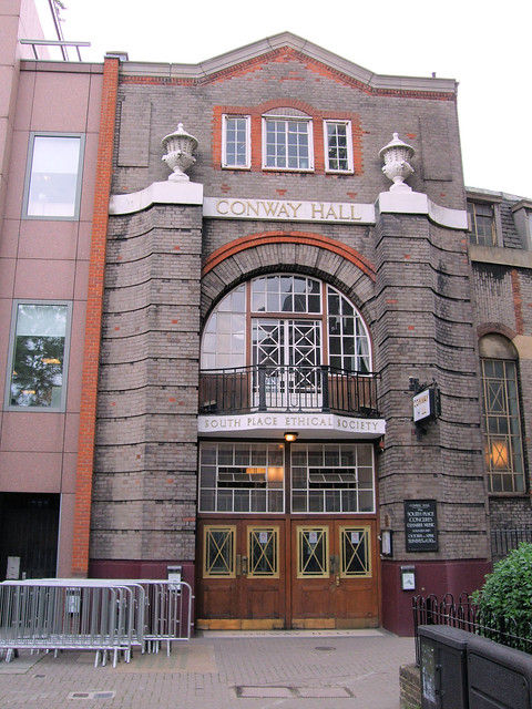 Conway Hall, Red Lion Square, London.