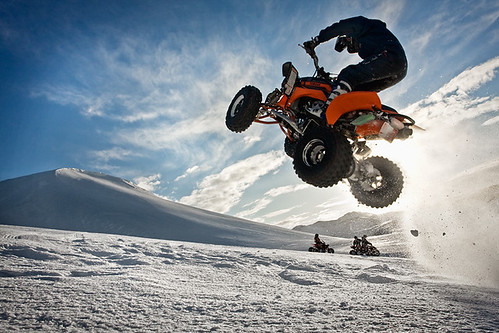 to the sky - ATV guys having fun