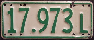 NEW ZEALAND 1962-63 Motorcycle learner plate