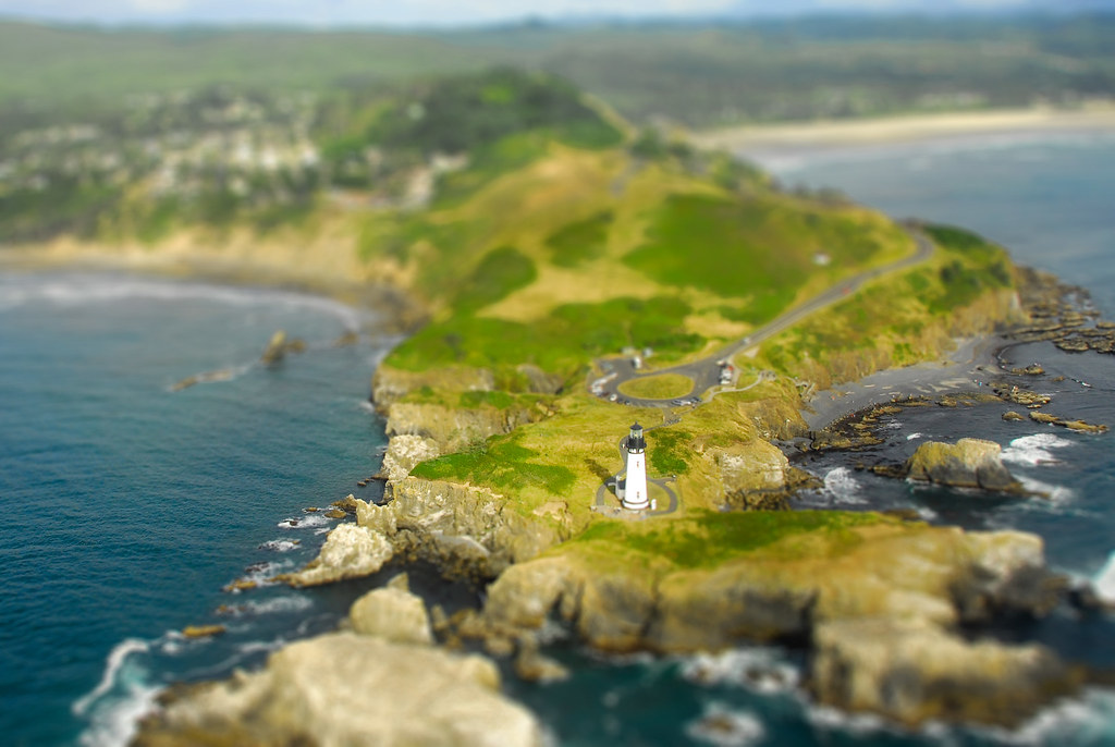 """Miniature"" Yaquina Head Lighthouse"