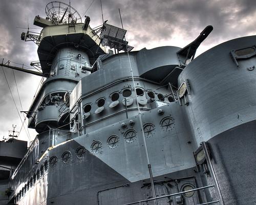 navy battleship hdr ussnorthcarolina bb55