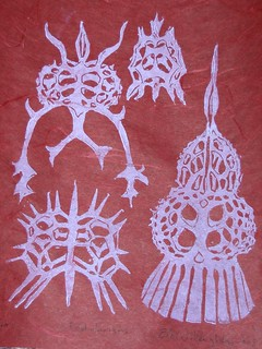 Radiolarians - close up