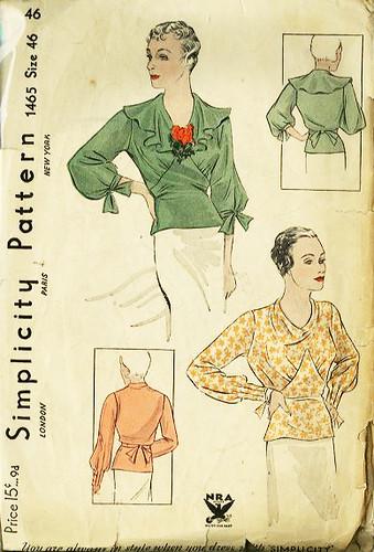 simplicity blouse 1465