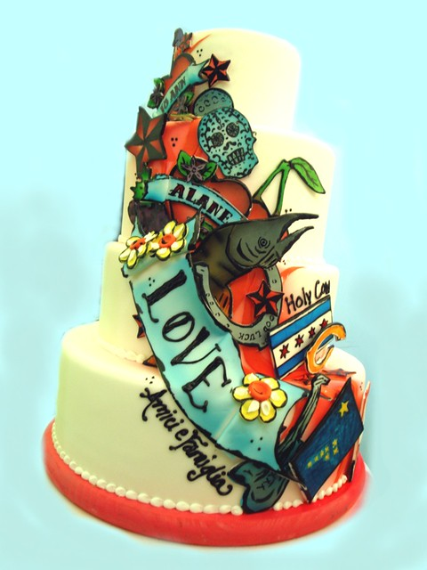 tattoo themed wedding cake cakes a gallery on flickr 20763