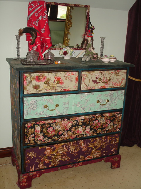 Fabric Covered Dresser My Favourite Piece Of Furniture