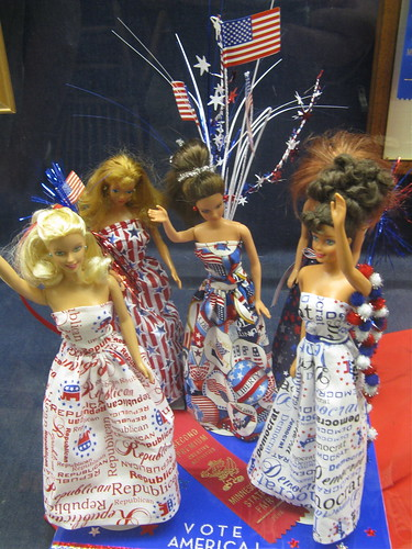 Scary Patriotic Barbies