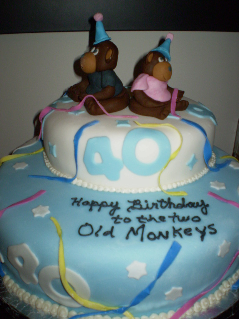 Cool 40Th Birthday Cake The Two 40 Year Olds Wereborn In The Ye Flickr Funny Birthday Cards Online Bapapcheapnameinfo
