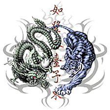 Image Gallery of Yin Yang Dragon Tiger Tattoos