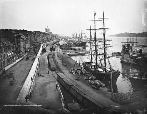 View of the harbour, Montreal, QC, 1884