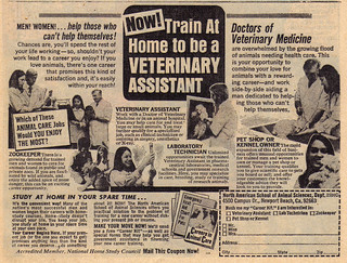 Vintage Ad #619: Now! Train at Home to be a Veterinary Assistant