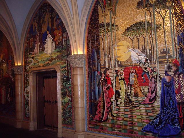 Mosaics inside Cinderella Castle