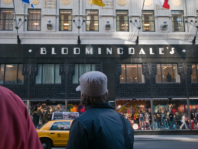 Bloomingdales, where I have never shopped, not even once
