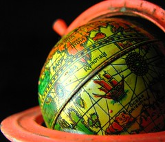 art, yellow, sphere, red, macro photography, green, earth, close-up, circle, globe,