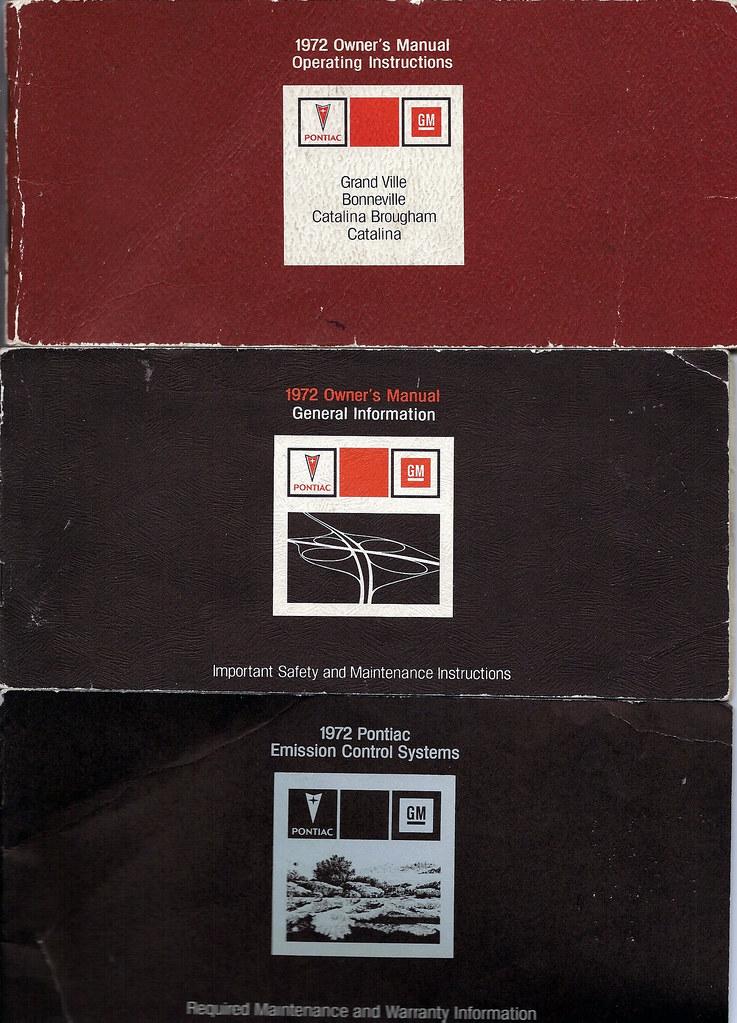 72 Pontiac Grand Ville owner's manuals | Original owner's m