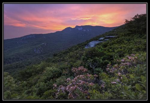 sunset mountains canon nc northcarolina mountainlaurel hdr blueridgeparkway grandfathermountain brp roughridge 3xp photomatix linncoveviaduct hdraddicted