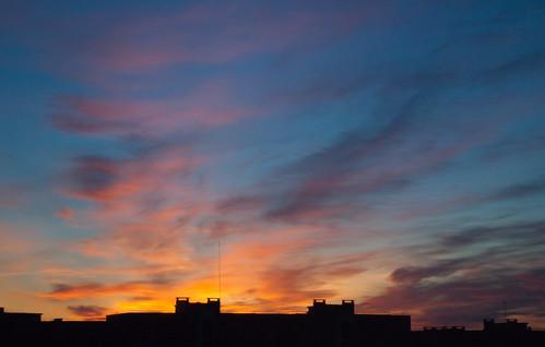 city morning light sun sunrise skies play belarus minsk