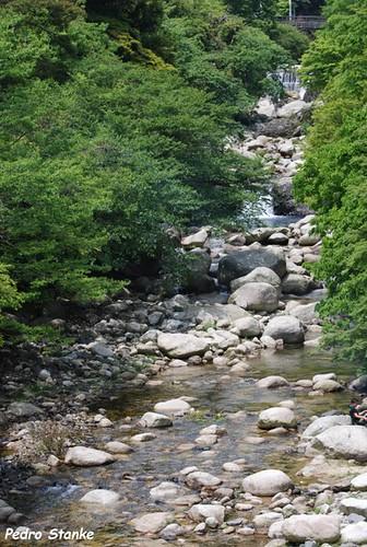 Uns dos vários riachos do Japão ...