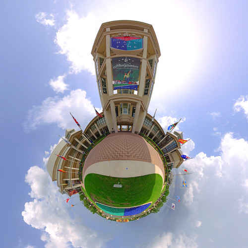 panorama golf florida flags projection digitalrebel staugustine 360° stereographic sigma1020mm hugin superwide tinyplanet worldgolfvillage weeplanet