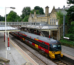 Skipton train at Bingley Station