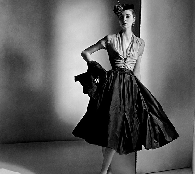 1950 s fashion from 1952 dress is made by dior by