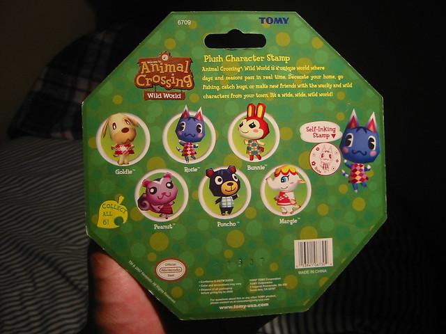 Animal Crossing Wild World self-inking stamps & plush