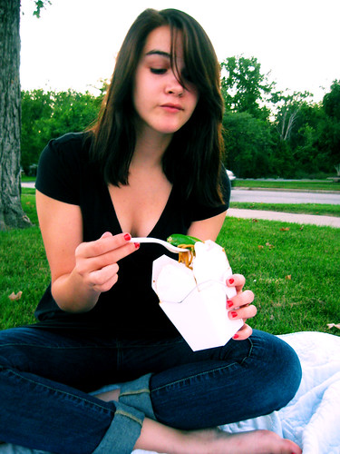 365: Day 252, chinese food picnic.