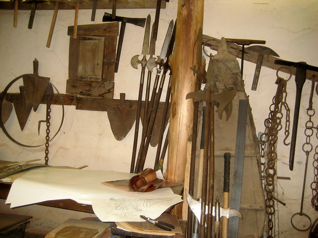 Blacksmith Tools At Medieval Museum Flickr Photo Sharing
