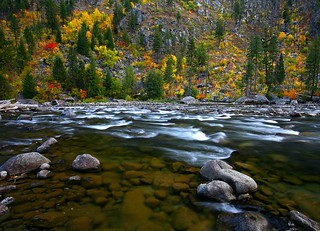 Wenatchee River Tumwater Canyon Autumn