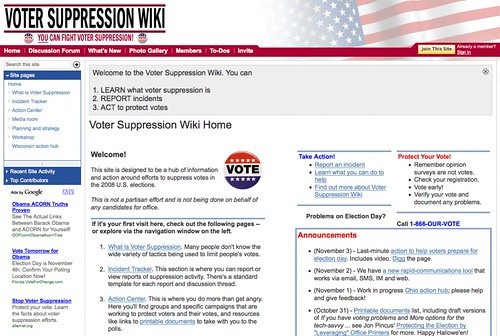 Voter Suppression 2008
