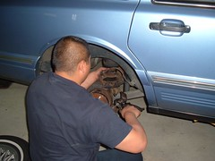 tire, automotive tire, automotive exterior, wheel, auto mechanic, rim, mechanic, person,