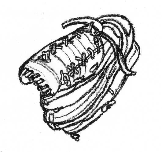 Drawing of a Baseball glove | Flickr - Photo Sharing!