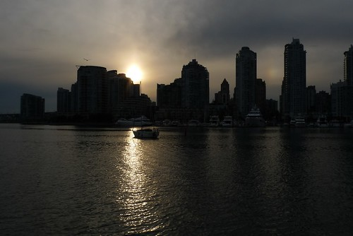 Vancouver Waterfront Skyline as the Sun Sets