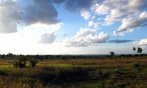 africa sunset sky field clouds humanitarian mozambique mocuba zambézia