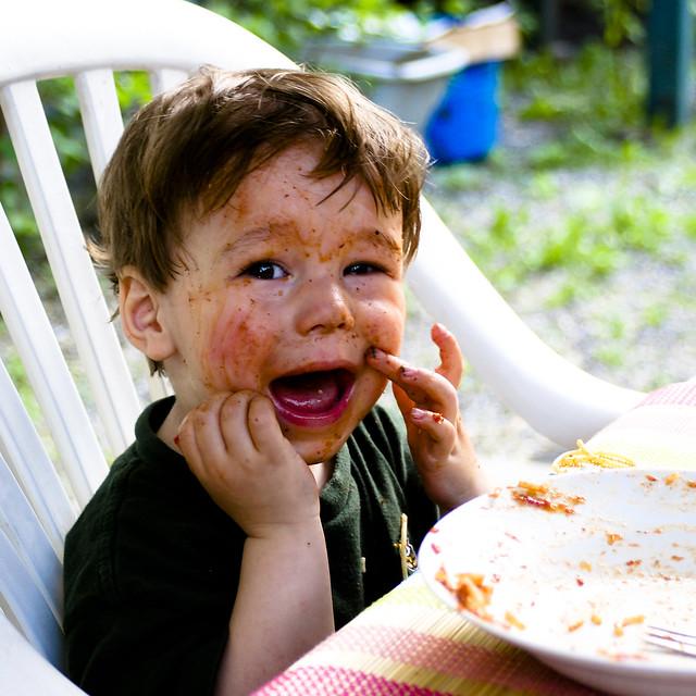 Axel et les spaghettis bolognaise I