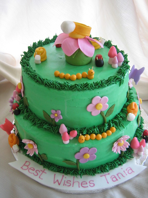 images of cakes with garden theme - photo #31