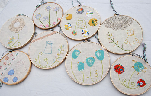 for the shop - embroidered hoops