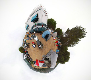 Planet Camping at Laguna Seca Racetrack for the MotoGP race with Bartosz, Ryan, and Kristen