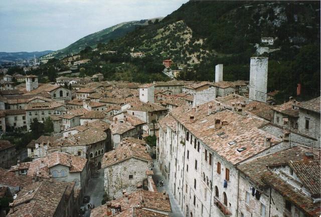 View of Gubbio from Loggia Palazzo dei Consdi