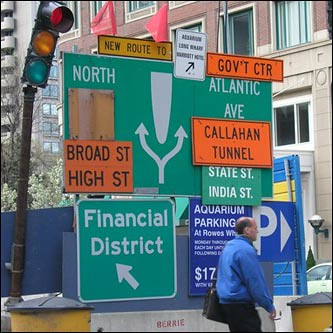 Confusing Traffic Sign, Boston MA by NNECAPA