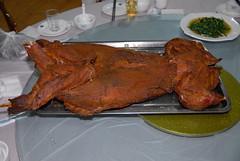 roasting, suckling pig, meat, food, dish, cuisine, turducken,