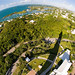 Bermuda, Atlantic Ocean. Fish Eye view from the lighthouse
