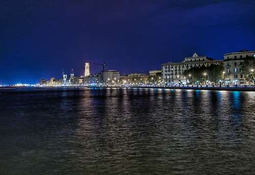bari by night, italy