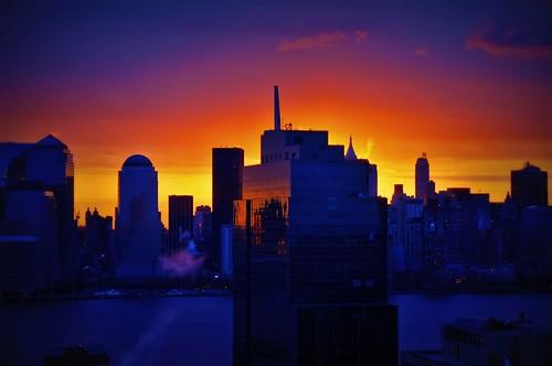 nyc newyorkcity newyork sunrise geotagged dawn newjersey jerseycity cityscape hdr mudpig stevekelley
