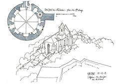 12 Najac, l'église, vue du donjon