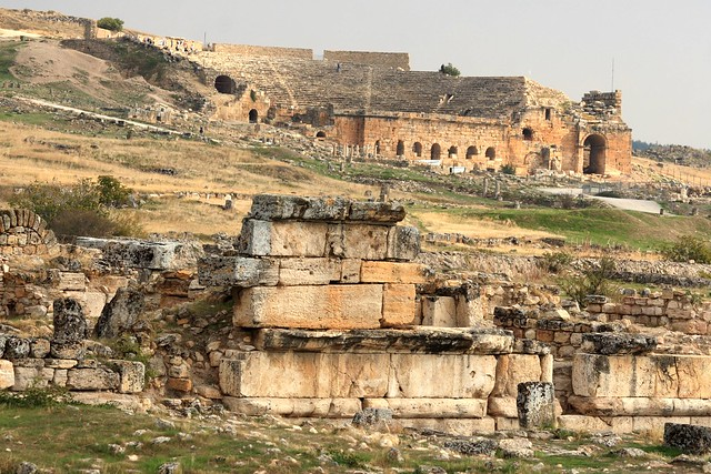 Ruins and the theatre at Hierapolis, Pamukkale