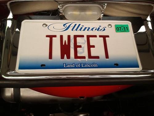 """""""TWEET"""" license plate"""