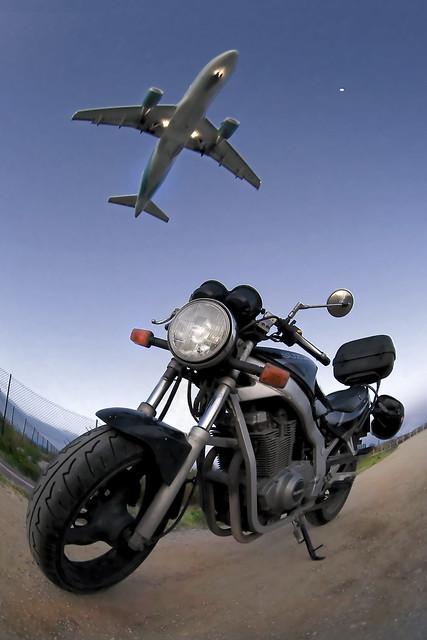 Moto a l'aeroport