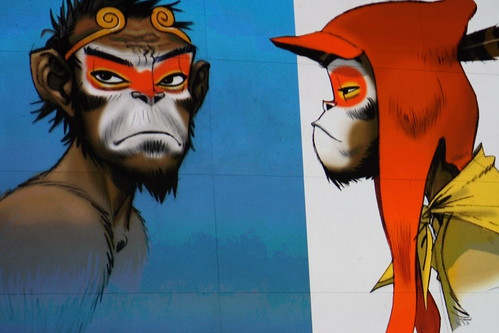 Jamie Hewlett monkeys