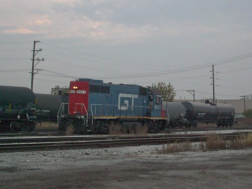 A former GTW diesel roadswitcher acquired by the CN through merger, is seen at work at the former Illinois Central Crawford Yard. Chicago Illinois. Early November 2007. by Eddie from Chicago