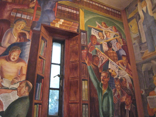 Diego rivera mural coit tower flickr photo sharing for Diego riveras mural